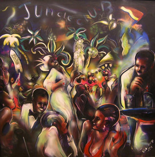 Good Times Jungle Club, The Savoy 1991 55x55 Super Huge Original Painting - Billy Dee Williams