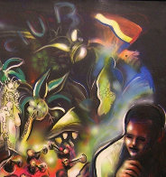 Good Times Jungle Club, The Savoy 1991 55x55 Huge Original Painting by Billy Dee Williams - 1