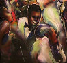 Good Times Jungle Club, The Savoy 1991 55x55 Original Painting by Billy Dee Williams - 2