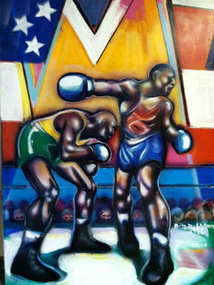 Untitled Boxer - Centennial Olympic Games 1996 72x60 Original Painting - Billy Dee Williams