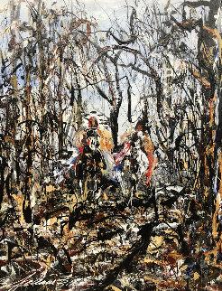Untitled Landscape 30x24 Original Painting - JoAnne Bird