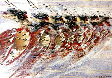 Whirlwind Riders and The Grand Entry 1990 Set of 2 Limited Edition Print - JoAnne Bird