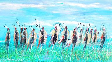 Plains Excursion 25x49 Huge Original Painting - JoAnne Bird