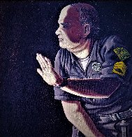 Apprehension of Rodney King With Sgt. Stacey Koon And Officer Lawrence Powell 1992 27x23 Original Painting by Sandow Birk - 3