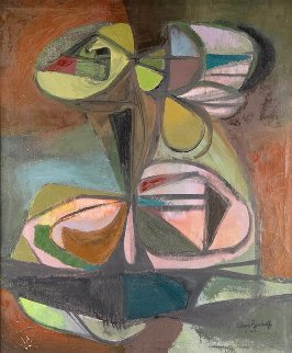 Clustered Objects 1947 42x36 Huge Original Painting - Elmer Bischoff