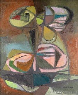 Clustered Objects 1947 42x36 Super Huge Original Painting - Elmer Bischoff
