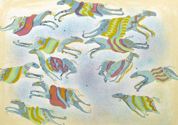 A Dream of Flying Ponies 1978 Limited Edition Print by Earl Biss