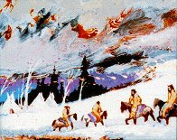 Camp of the Mountain Crows 1998 Limited Edition Print by Earl Biss - 0