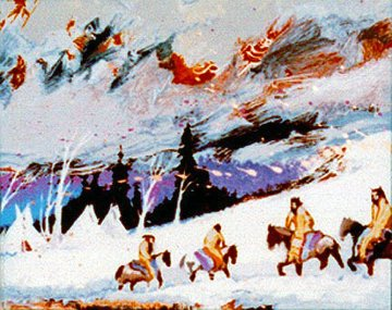 Camp of the Mountain Crows 1998 Limited Edition Print by Earl Biss