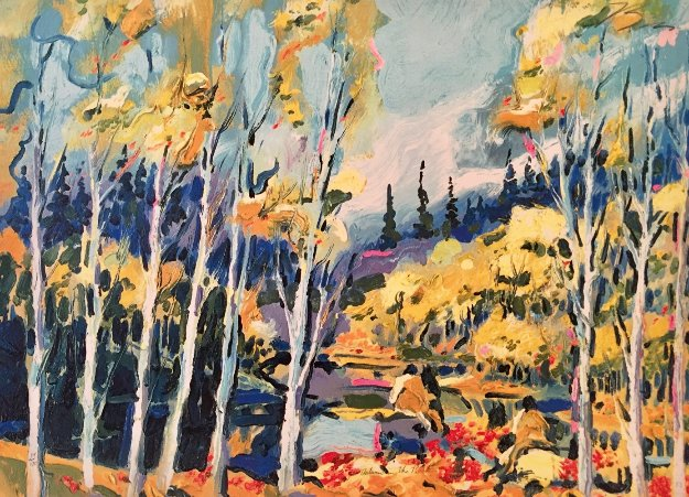 Autumn in the Rockies 1983 Limited Edition Print by Earl Biss
