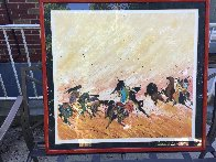 Buffalo Hunt 1980 Limited Edition Print by Earl Biss - 1
