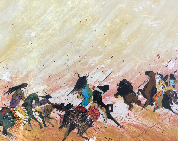 Buffalo Hunt 1980 Limited Edition Print by Earl Biss