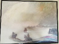 Visions of the Fog in the Morning 1985 42x62 Original Painting by Earl Biss - 1