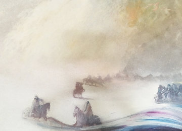 Visions of the Fog in the Morning 1985 42x62 Original Painting - Earl Biss