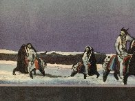 Horse Thieves At Dusk 1985 Limited Edition Print by Earl Biss - 3