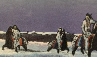 Horse Thieves At Dusk 1985 Limited Edition Print by Earl Biss - 0