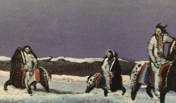 Horse Thieves At Dusk 1985 Limited Edition Print - Earl Biss