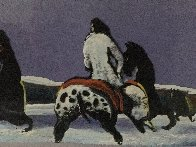 Horse Thieves At Dusk 1985 Limited Edition Print by Earl Biss - 4