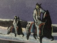 Horse Thieves At Dusk 1985 Limited Edition Print by Earl Biss - 5