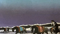 Horse Thieves At Dusk 1985 Limited Edition Print by Earl Biss - 1
