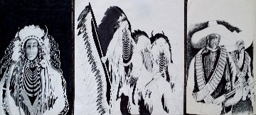 Untitled Set of 3 Drawings- 2 at 14 x 11 inches & 1 at 14 x 17 Inches Drawing - Earl Biss