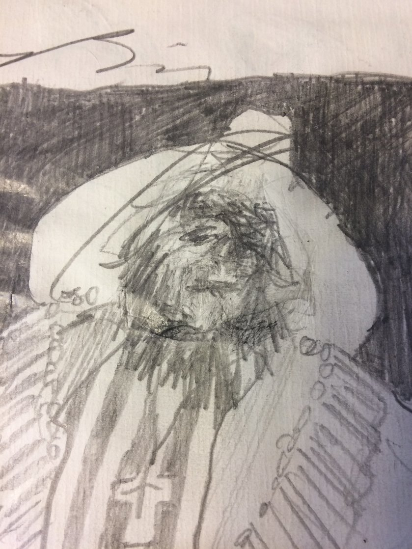 Soal Chief 1994 11x14 double sided Drawing by Earl Biss