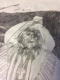 Soal Chief 1994 11x14 double sided Drawing - Earl Biss
