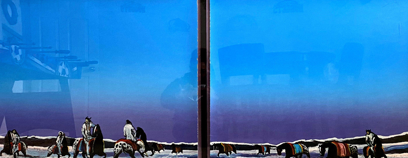 Horse Thieves At Dawn Diptych 1985 Limited Edition Print by Earl Biss