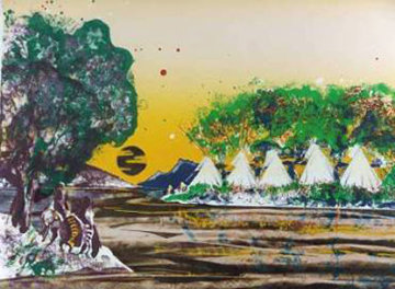 Sunrise on the Whistling Waters 1980 Limited Edition Print by Earl Biss