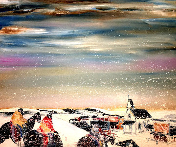Turn of the Century Winter 1980 44x49 Original Painting - Earl Biss