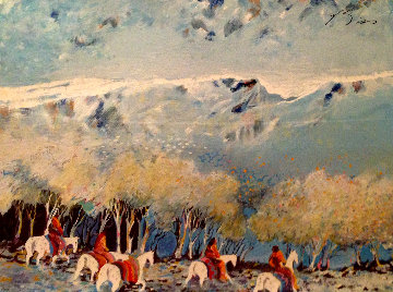 Rainbow Warriors Wandering Through the Autumn (Yellow) 1987 Limited Edition Print by Earl Biss