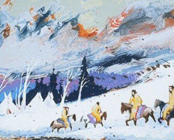 High Mountain Campground 1988 Limited Edition Print - Earl Biss