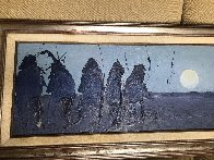 Vision of Moon Child 1979 15x53 Original Painting by Earl Biss - 4