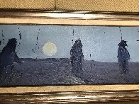 Vision of Moon Child 1979 15x53 Original Painting by Earl Biss - 5