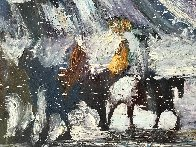 Yes It's Very Cold in Cut Bank Montana Even Now! 1995 37x47 Original Painting by Earl Biss - 5