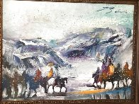 Yes It's Very Cold in Cut Bank Montana Even Now! 1995 37x47 Original Painting by Earl Biss - 3