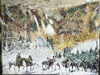 Autumn Storm on the Crazy Woman Mountains 1995 Limited Edition Print by Earl Biss - 1