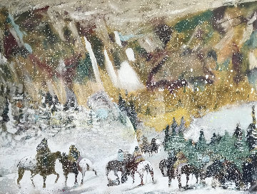 Autumn Storm on the Crazy Woman Mountains 1995 Limited Edition Print - Earl Biss