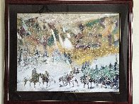 Autumn Storm on the Crazy Woman Mountains 1995 Limited Edition Print by Earl Biss - 2