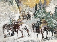 Autumn Storm on the Crazy Woman Mountains 1995 Limited Edition Print by Earl Biss - 8
