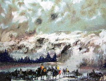Another Storm Along the Rockies 1995 Limited Edition Print by Earl Biss