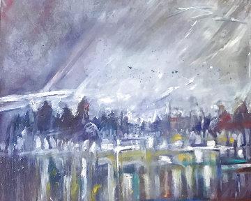 Standing in the Beginning of Winter 68x69 Huge Original Painting - Earl Biss