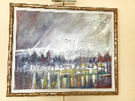 Visions of the Fog in the Morning 1985 42x62 Super Huge Original Painting by Earl Biss - 1