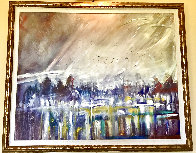 Standing in the Beginning of Winter 68x69 Super Huge Original Painting by Earl Biss - 4