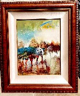 Spotted Ponies in the Sun Oil on Canvas  1998 24x18 Original Painting by Earl Biss - 2
