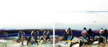 Untitled Diptych 1984 67x30 Huge Limited Edition Print - Earl Biss