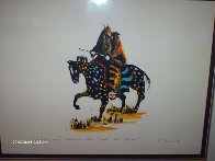 Stalking with Medicine That Speaks Like Thunder 1986 15x20 Unique  Embellished Limited Edition Print by Earl Biss - 3
