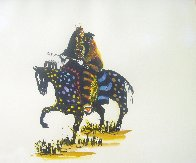 Stalking with Medicine That Speaks Like Thunder 1986 15x20 Unique  Embellished Limited Edition Print by Earl Biss - 1