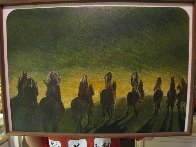North American Indians in the Process of Vanishing 1971 19x28 Original Painting by Earl Biss - 1