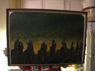 North American Indians in the Process of Vanishing 1971 19x28 Original Painting by Earl Biss - 2